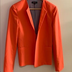 Colllar less cut out back blazer